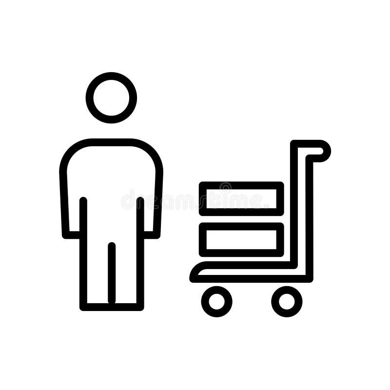 ícone dos fornecedores isolado no fundo branco ilustração royalty free