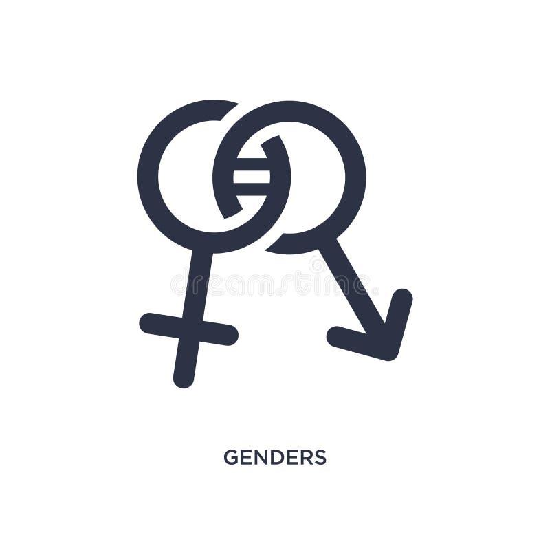 ícone dos gêneros no fundo branco Ilustração simples do elemento do conceito da festa de anos e do casamento ilustração stock
