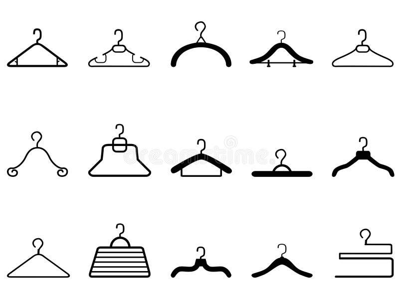 Ícone dos ganchos de roupa ilustração stock