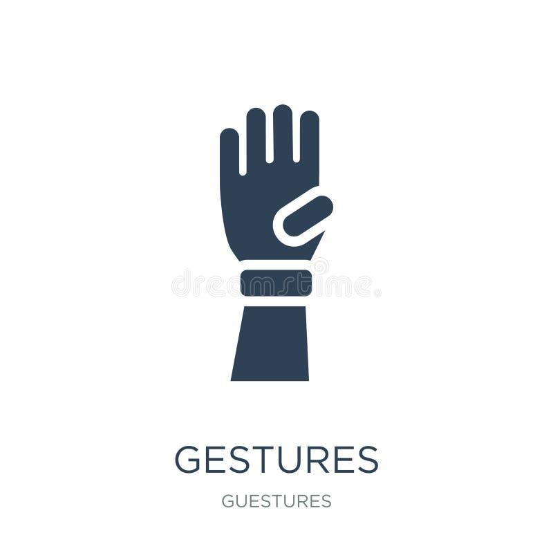 ícone dos gestos no estilo na moda do projeto ícone dos gestos isolado no fundo branco plano simples e moderno do ícone do vetor  ilustração royalty free