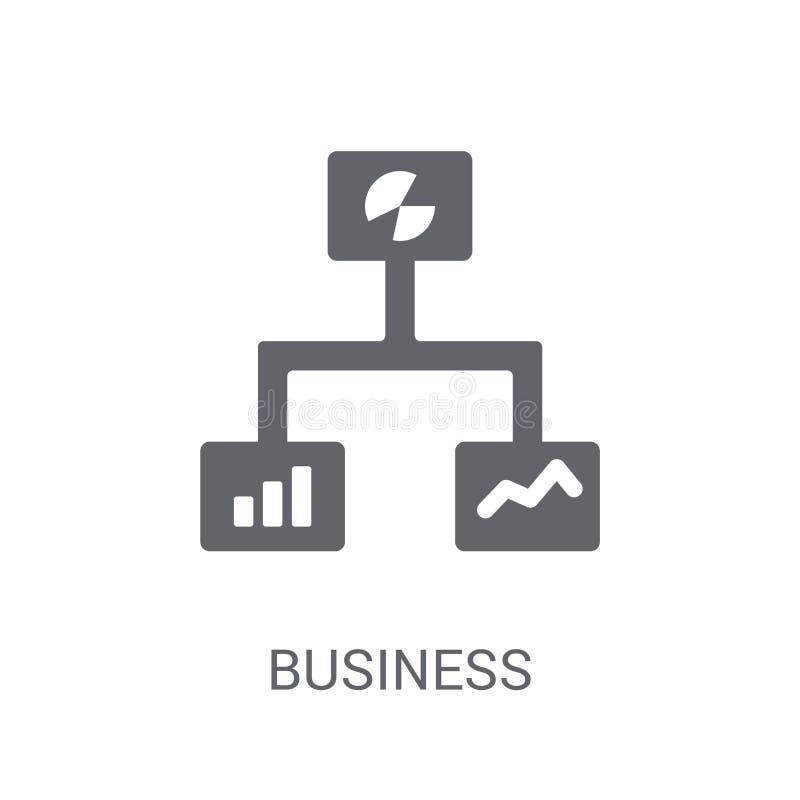 Ícone dos gráficos da analítica do negócio Grap na moda da analítica do negócio ilustração royalty free