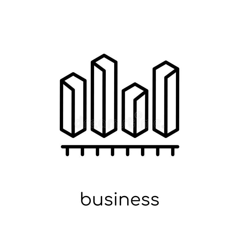 Ícone dos gráficos da analítica do negócio Vect linear liso moderno na moda ilustração royalty free