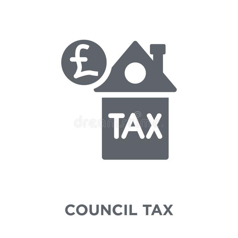 Ícone dos impostos municipais da coleção de impostos municipais ilustração do vetor