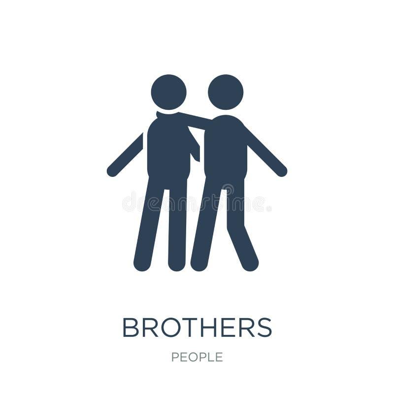 ícone dos irmãos no estilo na moda do projeto ícone dos irmãos isolado no fundo branco plano simples e moderno do ícone do vetor  ilustração do vetor