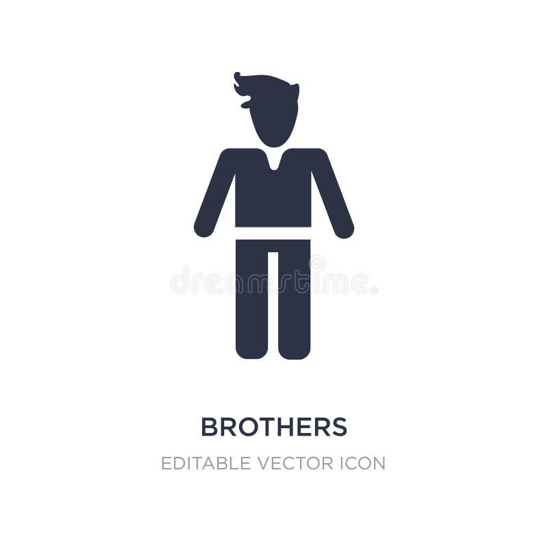 ícone dos irmãos no fundo branco Ilustração simples do elemento do conceito dos povos ilustração do vetor