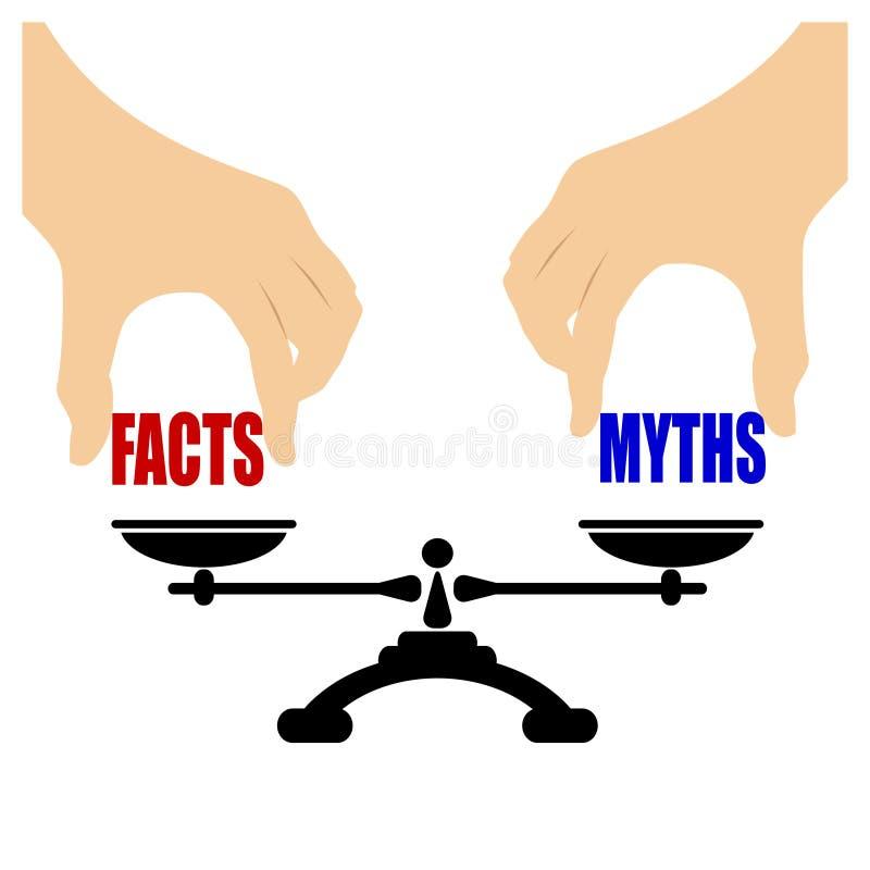 Ícone dos mitos dos fatos ilustração royalty free