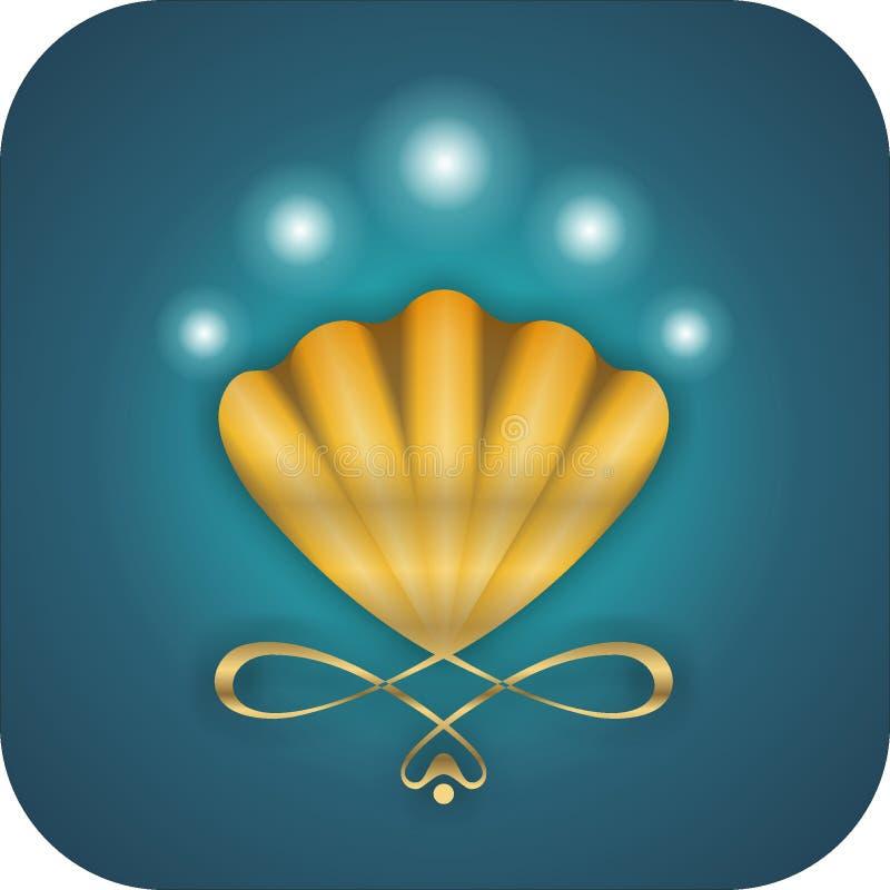 Ícone dos moluscos ilustração royalty free