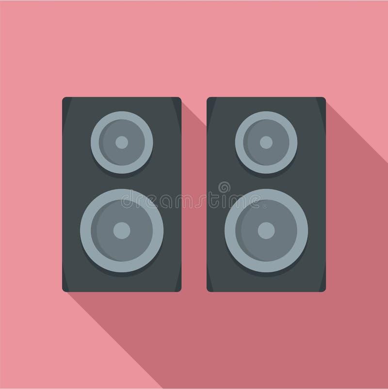 Ícone dos oradores do estúdio, estilo liso ilustração do vetor