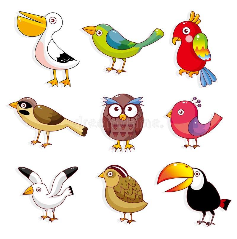 Ícone dos pássaros dos desenhos animados ilustração do vetor