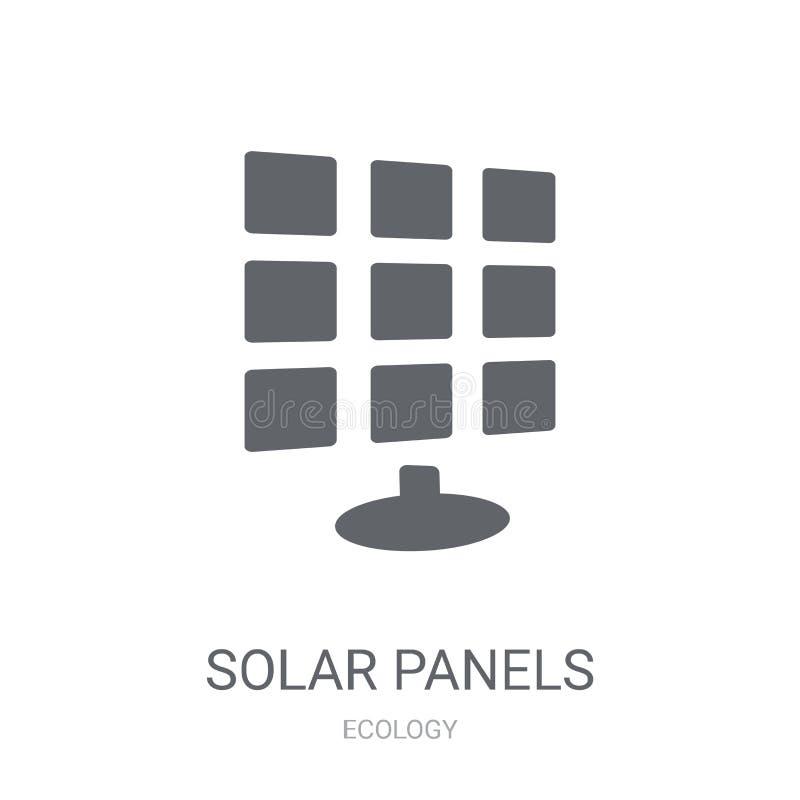Ícone dos painéis solares  ilustração do vetor