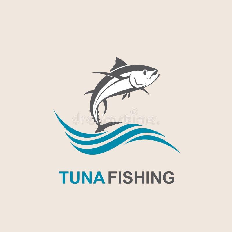 Ícone dos peixes de atum ilustração do vetor