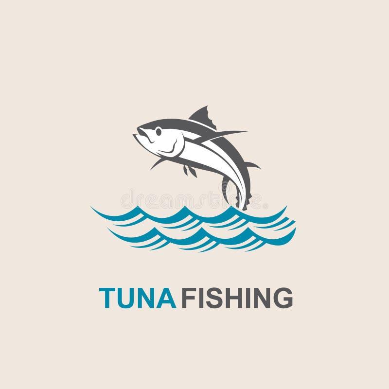 Ícone dos peixes de atum ilustração stock