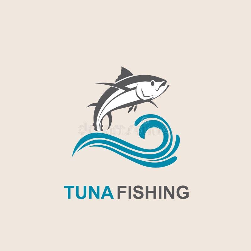 Ícone dos peixes de atum ilustração royalty free