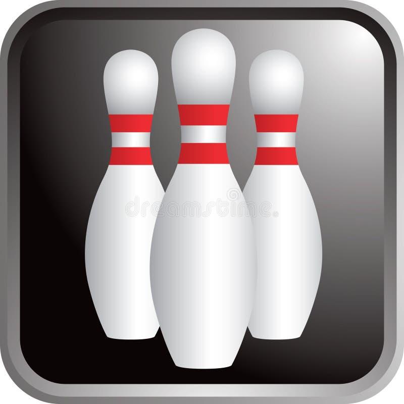 Ícone dos pinos de bowling ilustração do vetor