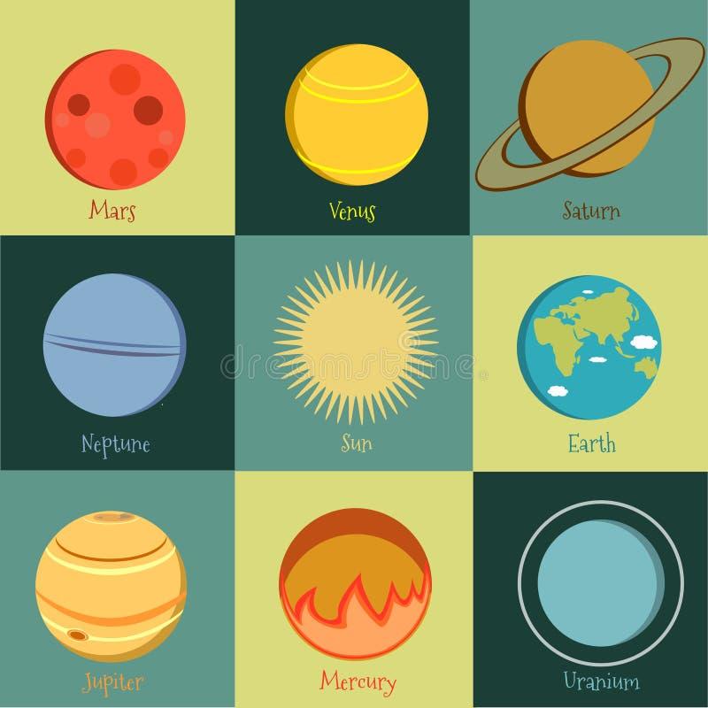 Ícone 2 dos planetas fotos de stock