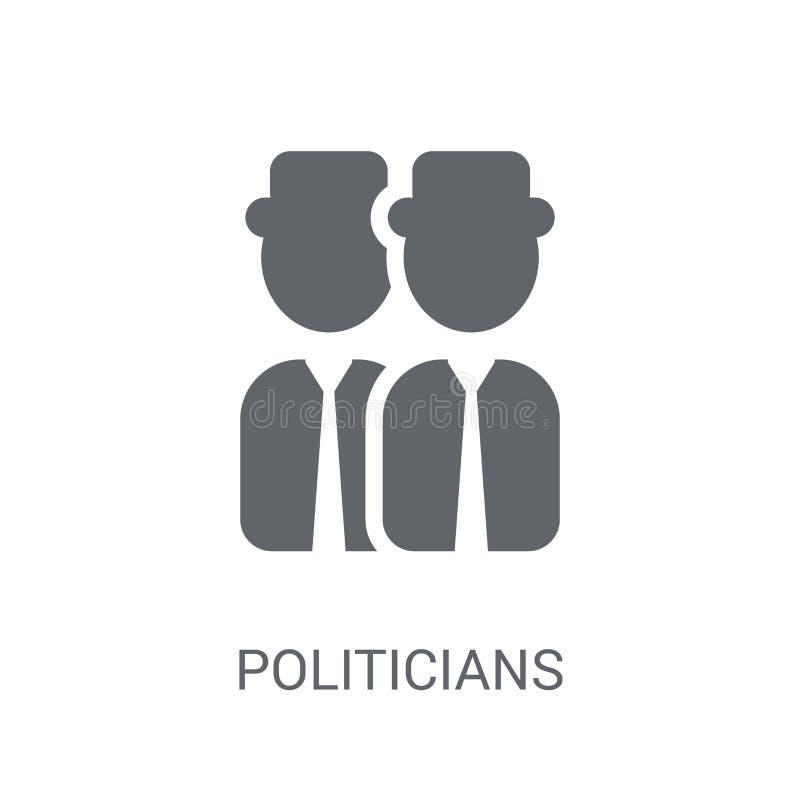 Ícone dos políticos Conceito na moda do logotipo dos políticos no backg branco ilustração do vetor