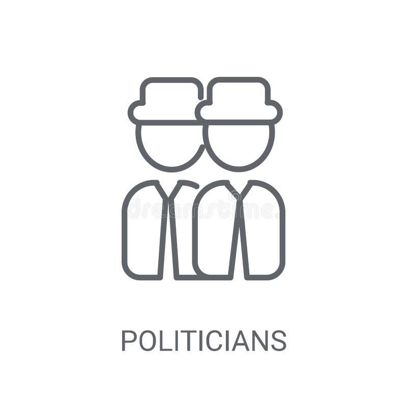 Ícone dos políticos Conceito na moda do logotipo dos políticos no backg branco ilustração royalty free