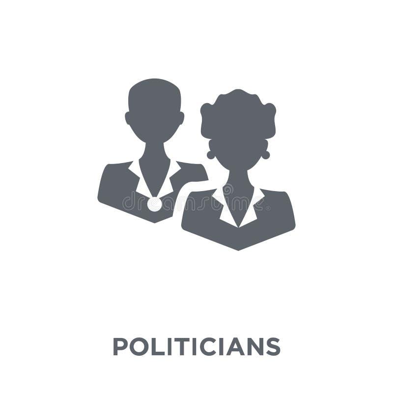 Ícone dos políticos da coleção política ilustração do vetor