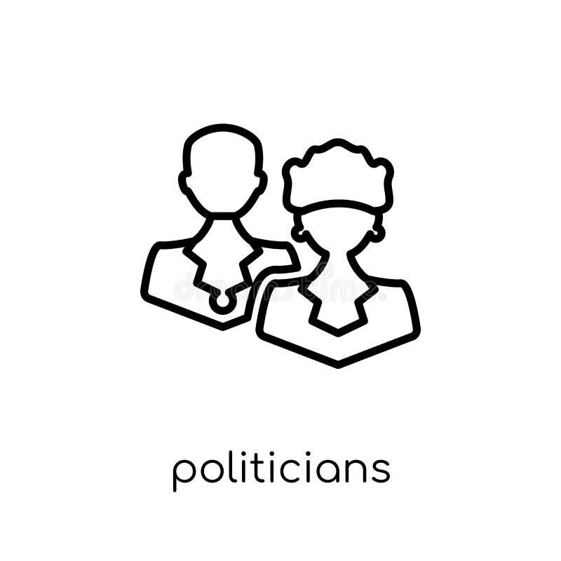 Ícone dos políticos da coleção política ilustração royalty free