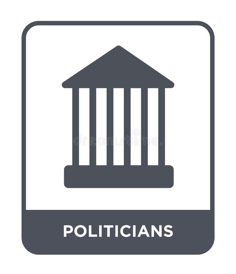 ícone dos políticos no estilo na moda do projeto ícone dos políticos isolado no fundo branco ícone do vetor dos políticos simples ilustração stock
