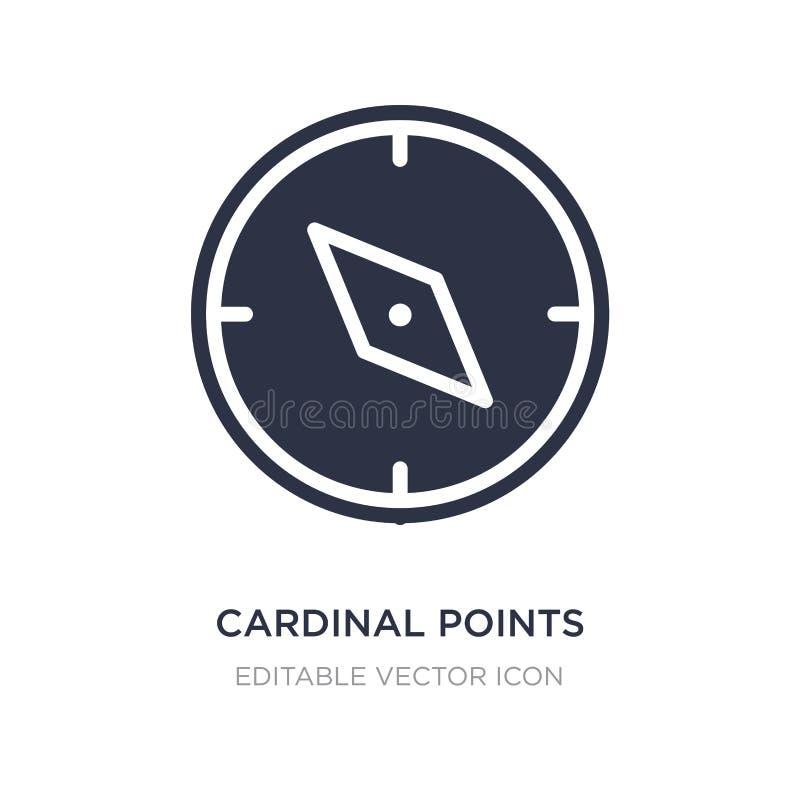 ícone dos pontos cardinais no fundo branco Ilustração simples do elemento do conceito das ferramentas e dos utensílios ilustração do vetor