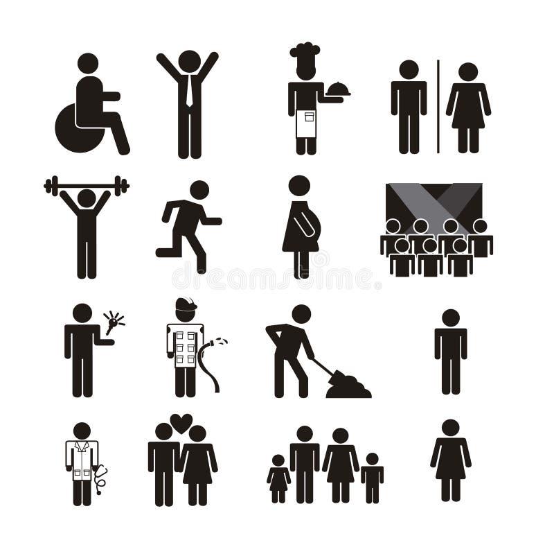 Ícone dos povos ilustração stock