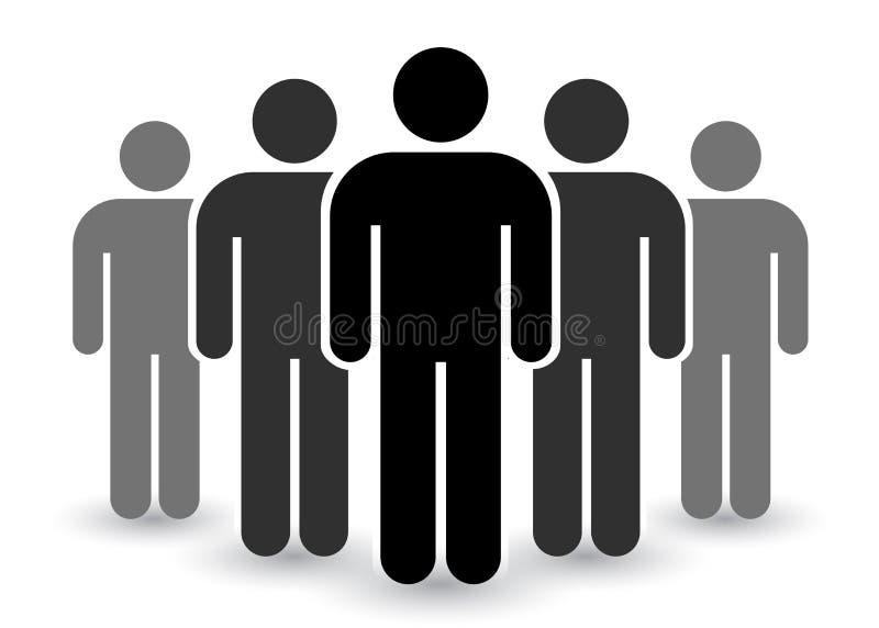 Ícone dos povos ajustado no estilo liso na moda Projeto do Web site do infographics do símbolo das pessoas, logotipo, app, UI iso ilustração do vetor