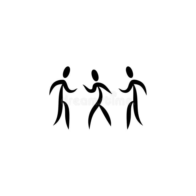 ícone dos povos da dança Elemento do ícone do partido para apps móveis do conceito e da Web O ícone detalhado dos povos da dança  ilustração royalty free