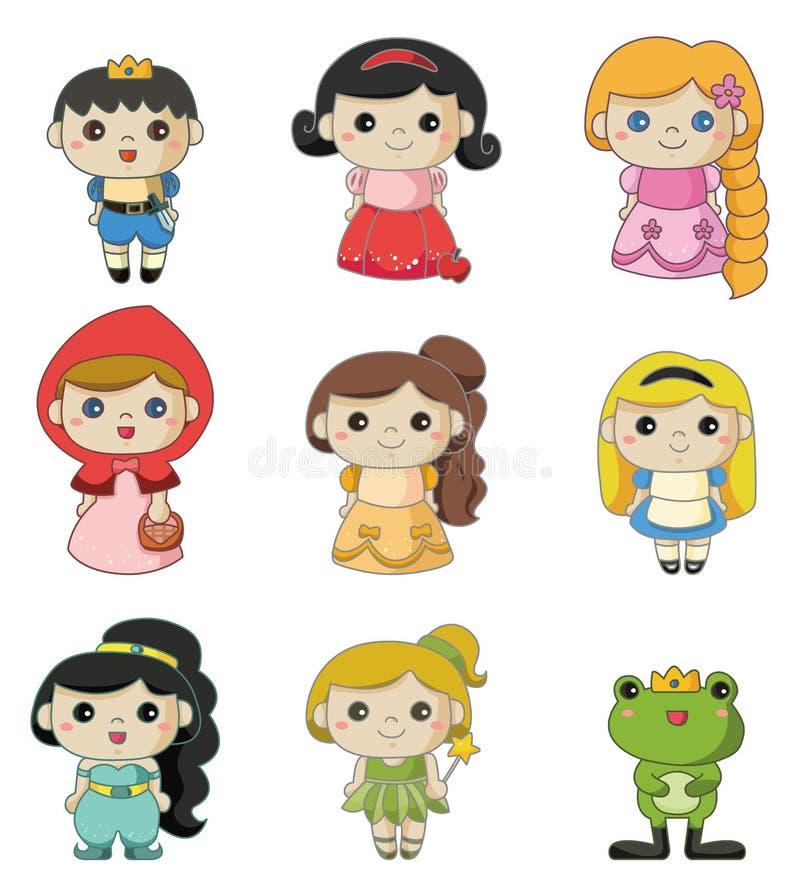 Ícone dos povos da história dos desenhos animados ilustração royalty free