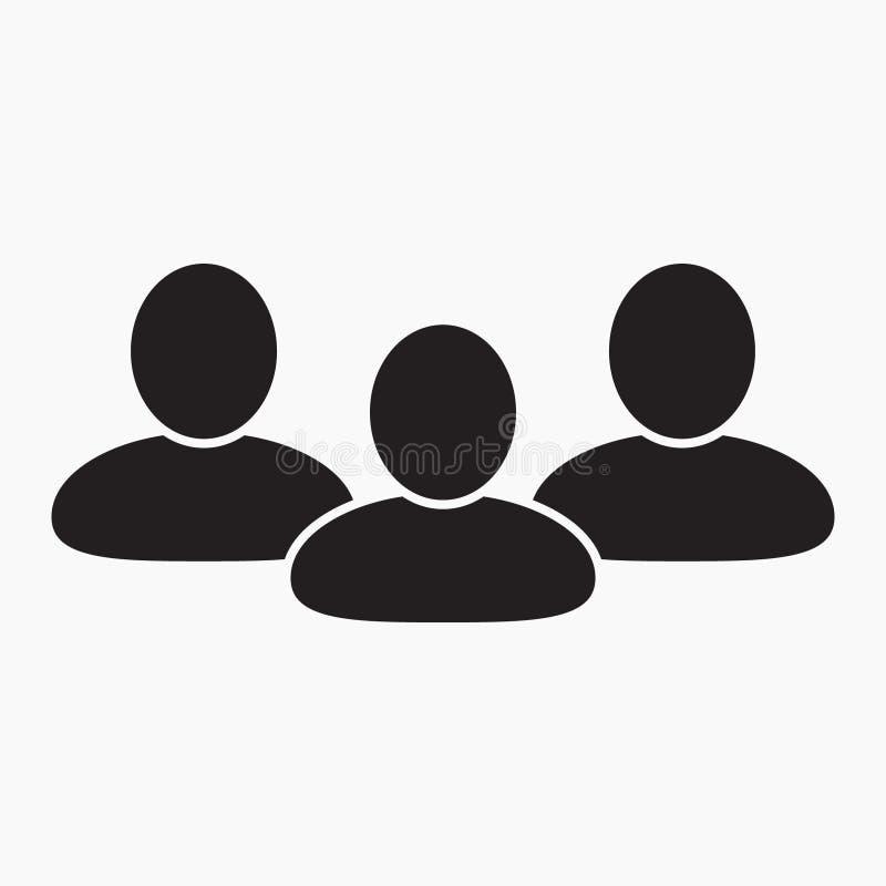 Ícone dos povos, ícone de grupo ilustração royalty free