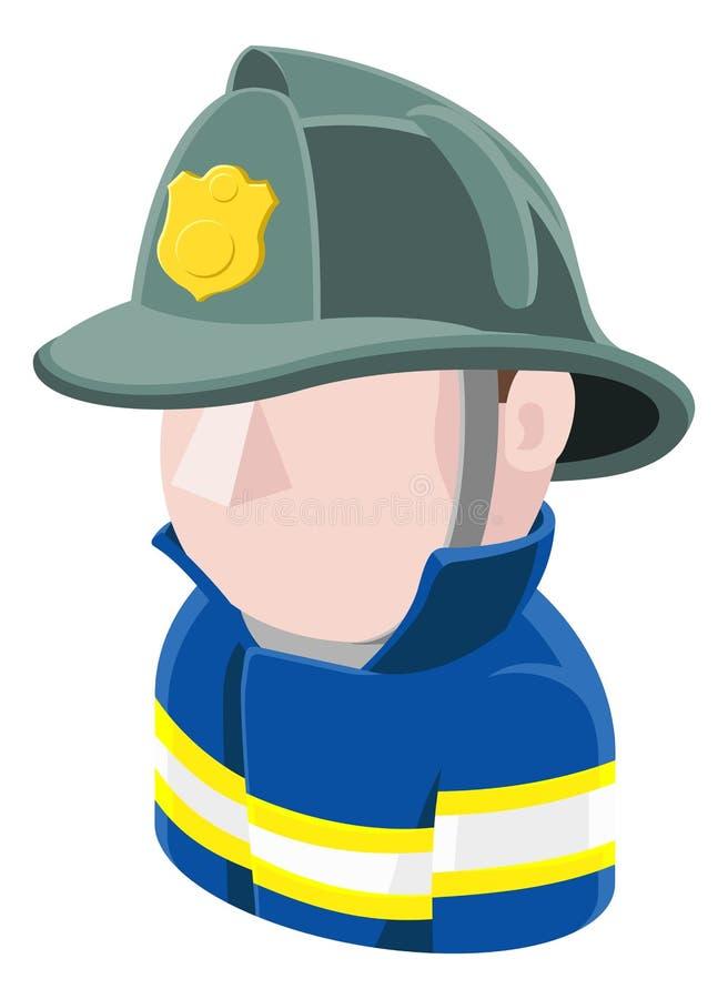 Ícone dos povos do Avatar do bombeiro ilustração royalty free
