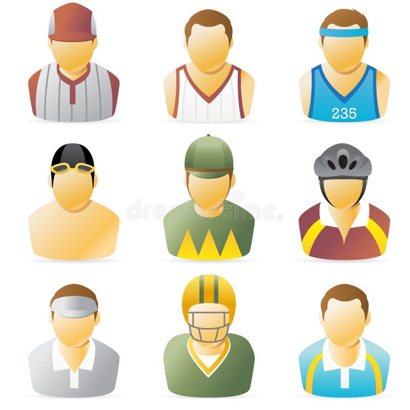 Ícone dos povos dos esportes ilustração royalty free