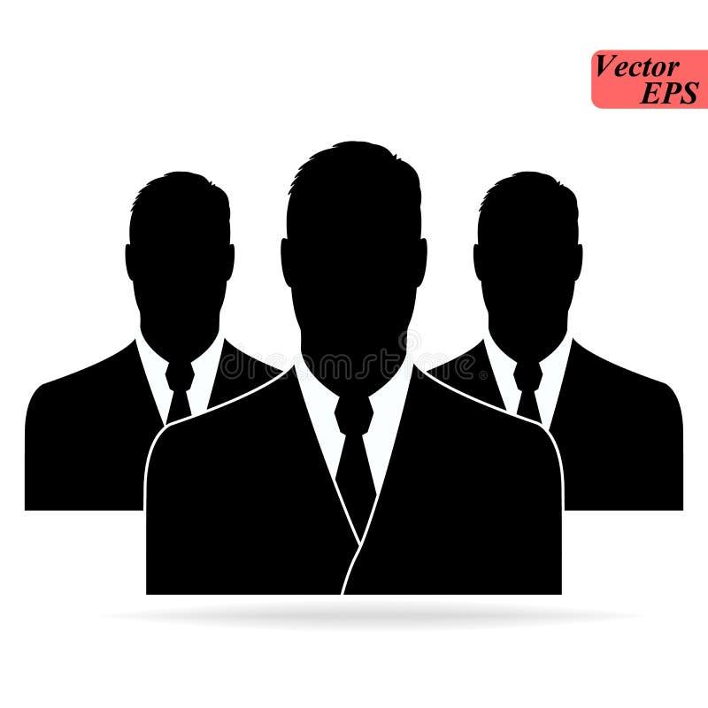 Ícone dos povos no estilo liso na moda isolado no fundo branco Símbolo para seu projeto da site, logotipo, app, UI Ilustração do  ilustração do vetor