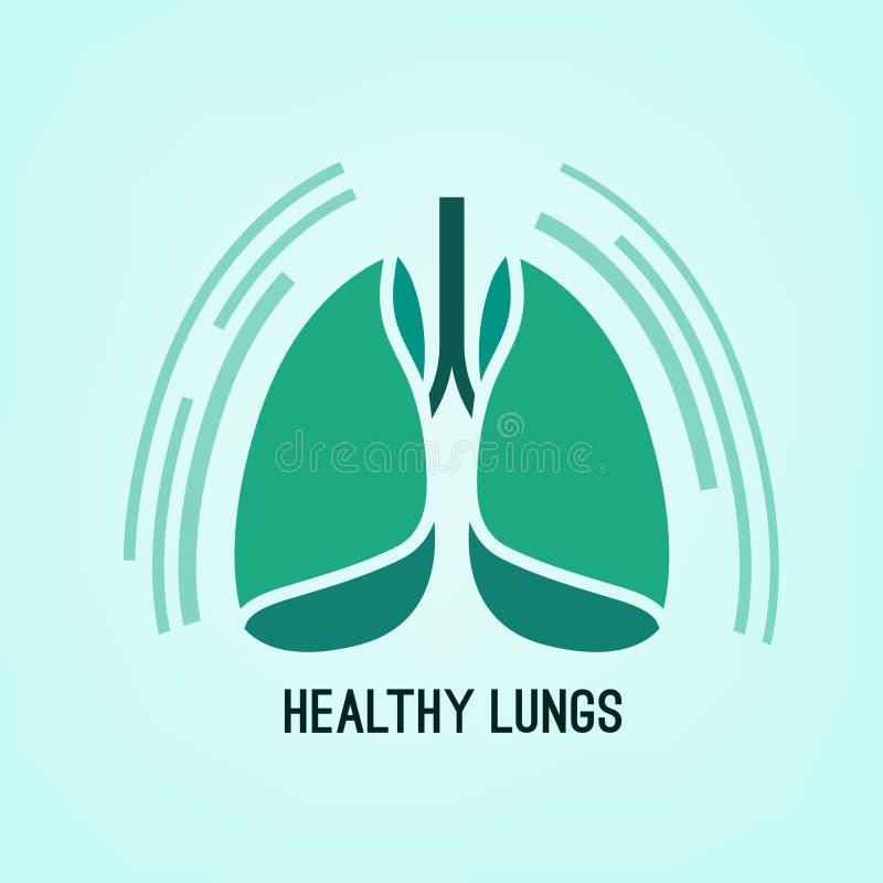 Ícone dos pulmões do vetor ilustração stock