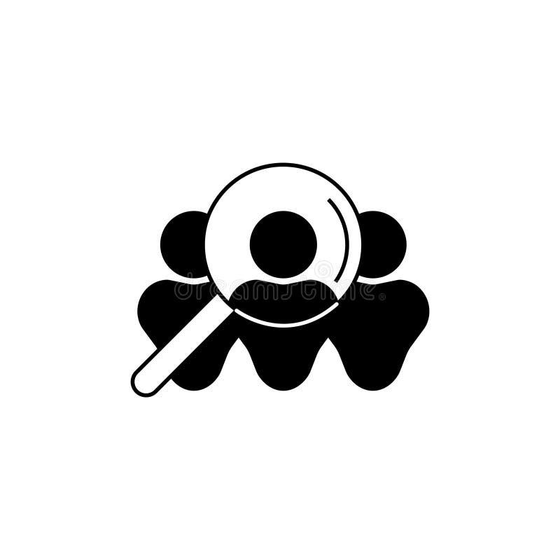 Ícone dos recursos humanos, sinal do recruta isolado no fundo branco - vetor editável ilustração royalty free
