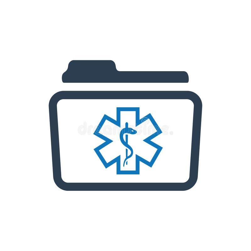 Ícone dos registros de saúde ilustração do vetor