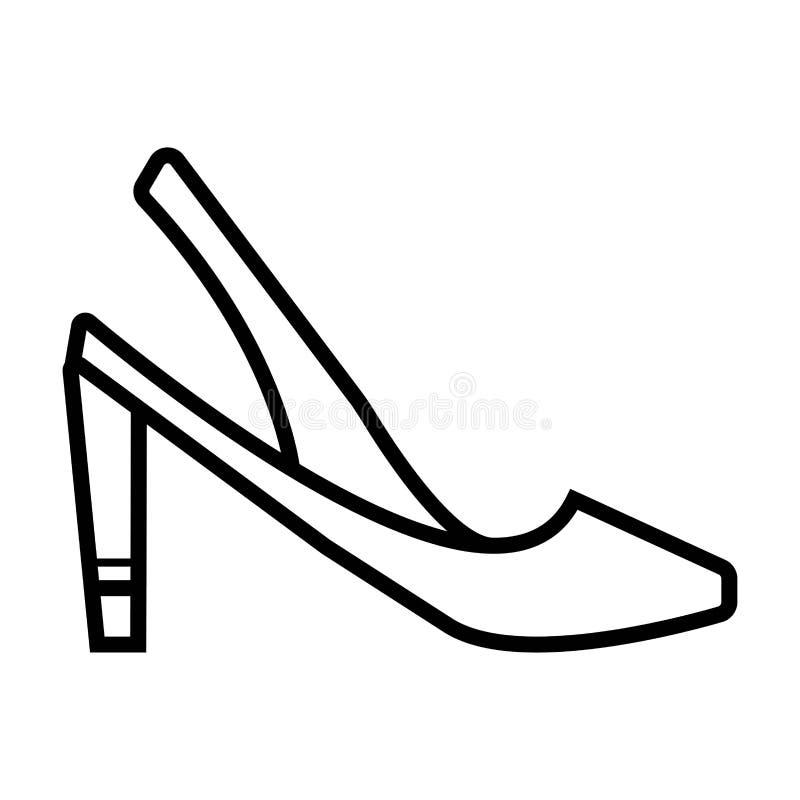 Ícone dos saltos altos ilustração royalty free