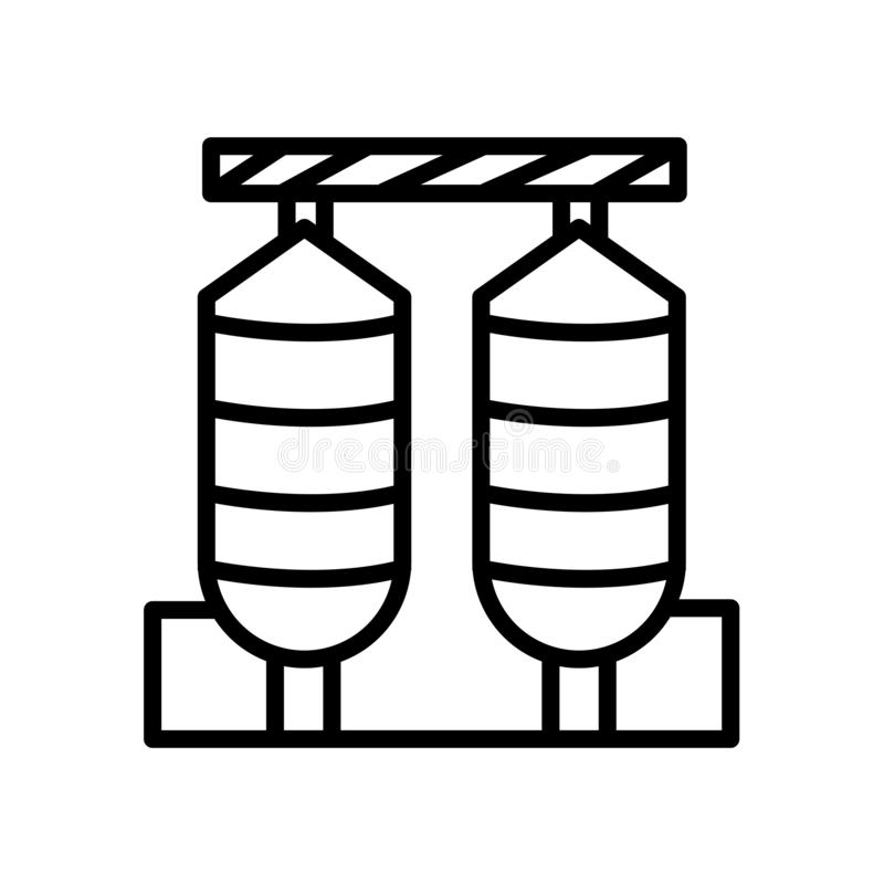 ícone dos silos isolado no fundo branco ilustração stock