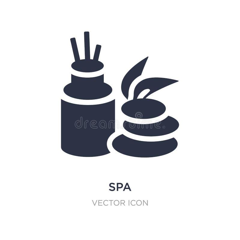 ícone dos termas no fundo branco Ilustração simples do elemento do conceito da beleza ilustração stock