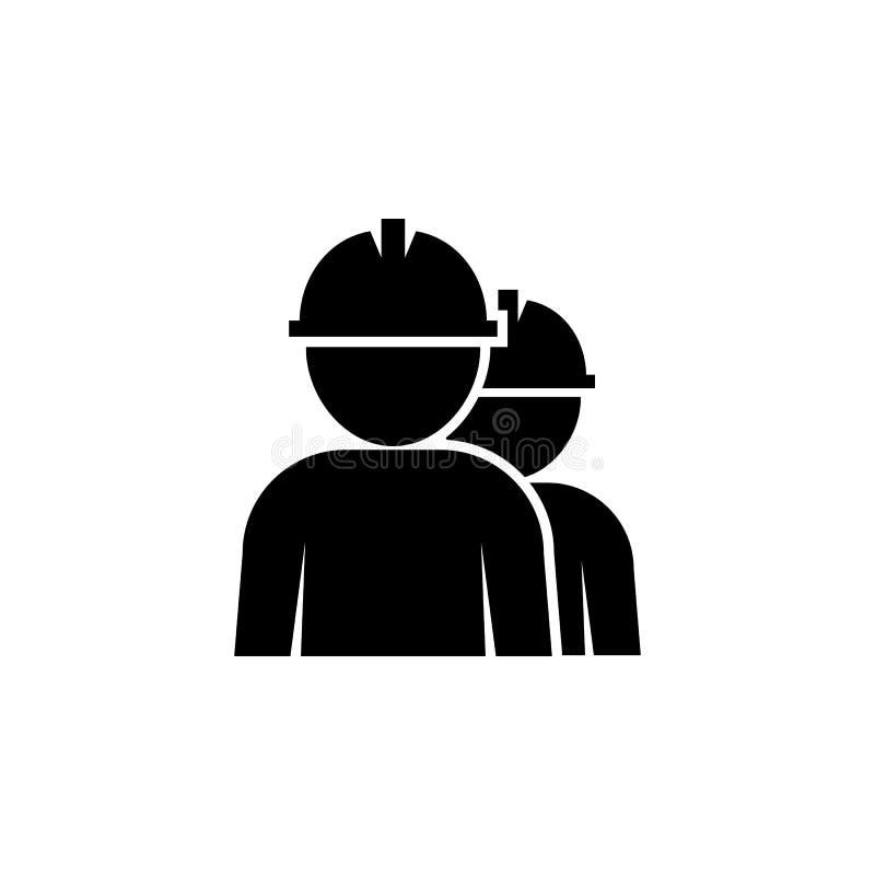 Ícone dos trabalhadores Lubrifique elementos de um ícone do gás Ícone superior do projeto gráfico da qualidade Ícone simples para ilustração stock