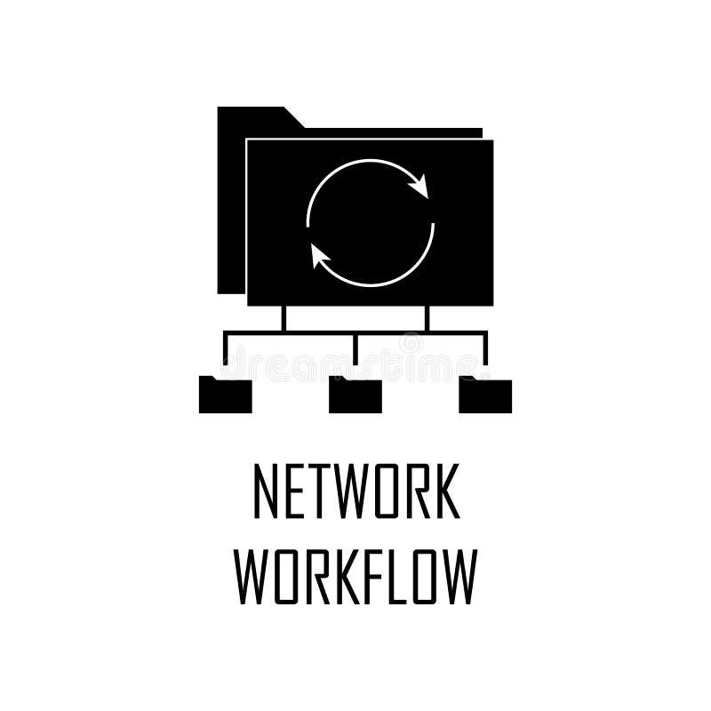 ícone dos trabalhos da rede Elemento do desenvolvimento da Web para apps móveis do conceito e da Web O ícone detalhado dos trabal ilustração royalty free