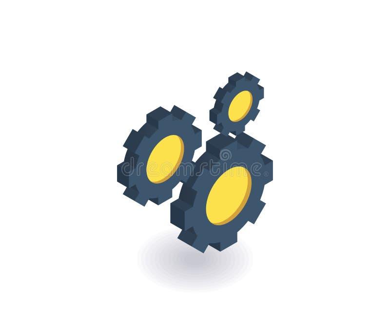 Ícone dos trabalhos de equipa Ilustração do vetor no estilo 3D isométrico liso ilustração do vetor