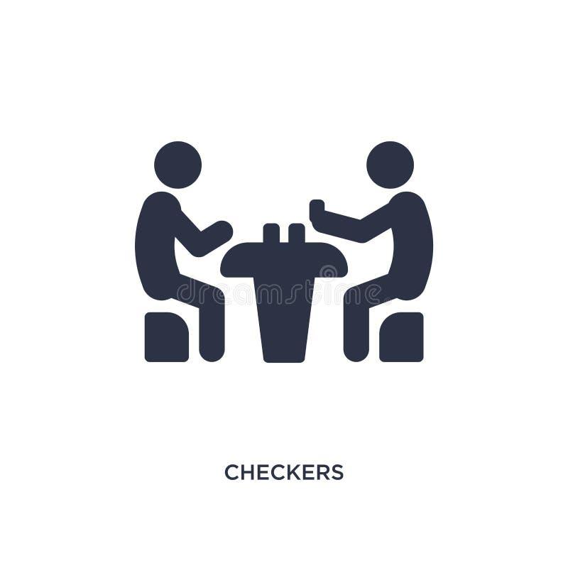 ícone dos verificadores no fundo branco Ilustração simples do elemento da atividade e do conceito dos passatempos ilustração do vetor