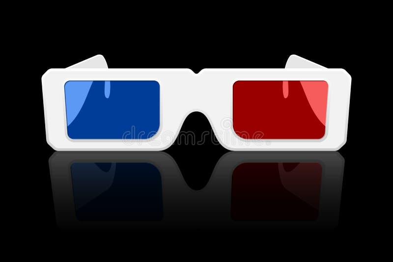 ícone dos vidros 3D ilustração royalty free