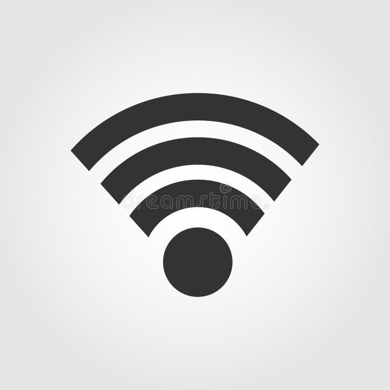 Ícone dos Wi fi, projeto liso ilustração do vetor