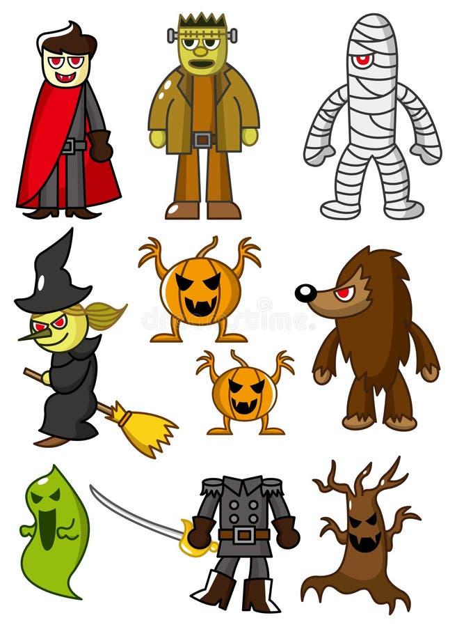 Ícone dos zombis dos desenhos animados ilustração do vetor