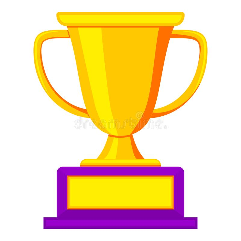 Ícone dourado colorido do copo do vencedor ilustração do vetor