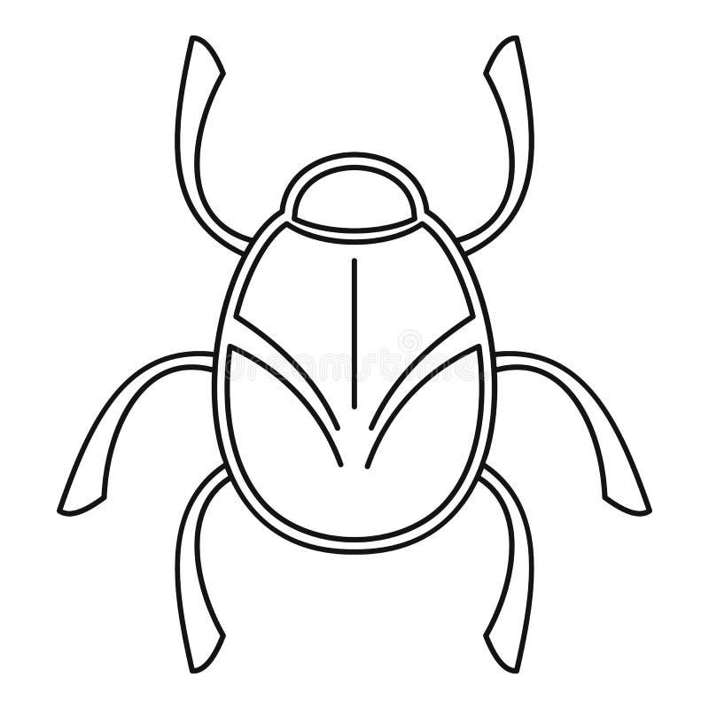 Ícone dourado do erro, estilo do esboço ilustração stock