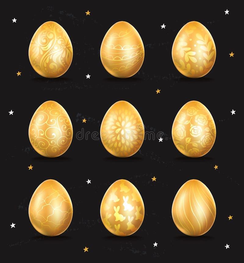 Ícone dourado do ovo ilustração royalty free