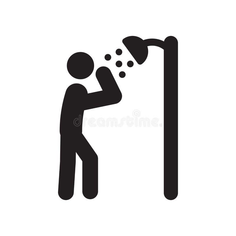 Ícone Dousing do chuveiro Conceito Dousing na moda do logotipo do chuveiro no branco ilustração royalty free